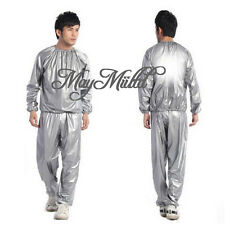 Gym Workout Yoga Exercise Unisex Sauna Sweat Suit Slim Down Weight Loss G