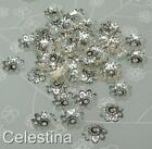 200 x Silver Plated Flower Daisy Bead Caps - Filigree - 10mm - BC9
