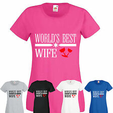 Worlds Best Wife or Husband T-Shirt new cotton mens womens top gifts sizes s-xxl