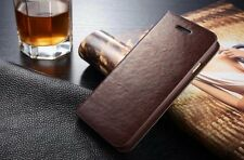 Luxury Genuine Leather Flip Case Card Holder Wallet Cover For iPhone 6/6 Plus