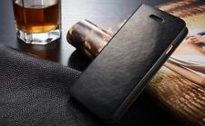 Luxury Genuine Leather Flip Card Holder Case Wallet Cover For Apple iPhone