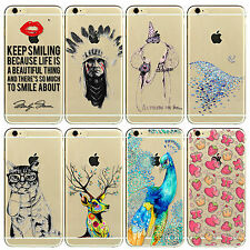 Ultra Slim Flower Transparent TPU Silicon Soft Case Cover For iPhone 4 5 6 6Plus