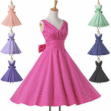 Retro Younger Style Vintage 50s 60S Rockabilly Swing Pin Up Evening Party Dress