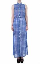 Hidden Fashion Womens Ladies Check Print Shirt Style Maxi Dress
