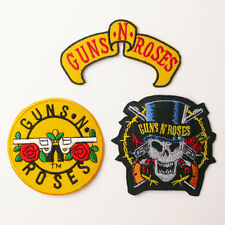 GUNS N' ROSES - Patch SET OF THREE Embroidered Iron-On Patches - UK - FREE POST