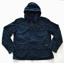 Nwt Polo Ralph Lauren Navy Blue Hooded Cargo Cotton Hunting Jacket
