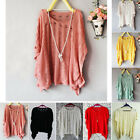 New Womens Batwing Casual Loose Hollow Asymmetric Knit Coats Cardigan Tops