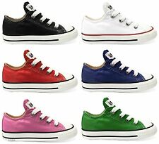 CONVERSE All Star Chuck Taylor Low Top OX INFANT KIDS Unisex Canvas Sneakers