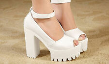 Fashion Women Sandals Pumps Platform Strappy Buckle Stiletto High Heels Shoes R5