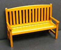 1:12 Scale Wooden Bench Dolls House Miniature Garden Furniture Accessory B