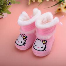 Baby boy gril Toddlers embroidere cat Girls Winter Boots Shoes Winter keep Warm