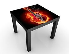 Table basse design Guitar in Flames 55x55x45cm