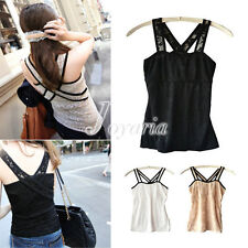 Women's Sexy Lace Tank Top Cami Casual Sleeveless T-Shirt Vest Dress Wholesale