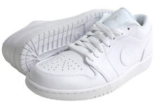 "Nike Air Jordan 1 ""TRIPLE WHITE"" Retro Low Mens leather Sneakers NEW FRESH Shoes"