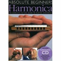 ABSOLUTE BEGINNERS DIATONIC HARMONICA MUSIC BOOK & CD LEARN TO PLAY MOUTH ORGAN