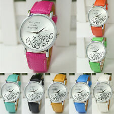 Fashion Faux Leather Quartz Watch Funny Wrist watches Who Cares I'm Late Anyways