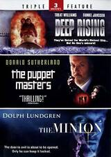 Deep Rising/The Puppet Masters/The Minion (DVD, 2013, 2-Disc Set) New
