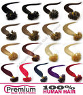 """25 Strands Pre Bonded 20"""" Remy 100% Human Hair Extensions, Nail U Tip 0.5g"""