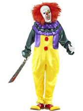 Adult Zombie Scary Circus Clown Mens Halloween Horror Party Fancy Dress Costume