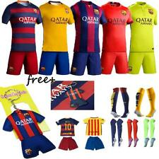 2015-16 New Football Soccer Short Sleeve Kid boy Youth 3-14 Team Suit Sportswear
