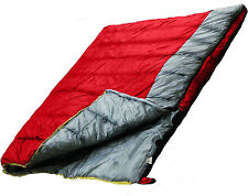 Ultracamp SINGLE and DOUBLE Large Red Sleeping Bag - Warm 400gsm Season 3, Adult