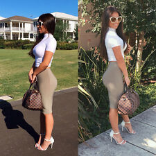 Womens Summer Two Piece Top Crop and Skirt Set Ladies Sexy Bandage Bodycon Dress