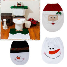 New 1pc Snowman Toilet Seat Cover and Rug Bathroom Christmas Decoration Gifts