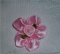 PINK FLOWER MAGNETIC HAIR BOW ACCESSORY 4 REBORN/BABY