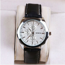 New Geneva Men Watches Bei nuo Leather Analog Quartz Wrist Watch Chiristmas Gift
