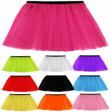 GIRLS NEON TUTU SKIRT UV NET FANCY DRESS PARTY ONE SIZE NEON TUTU SKIRTS