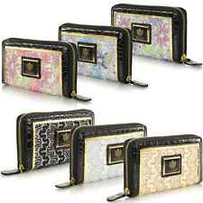 New Ladies Boxed Large LYDC Leather Style Coin Zip Hand Purse Clutch Wallet Bag