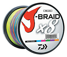 DAIWA J-BRAID BRAIDED FISHING LINE 1650 YDS (1500 M) MULTI-COLOR select lb test