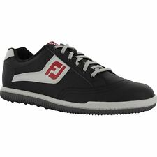 Mens Footjoy Greenjoys Sport Spikeless Closeout Golf Shoes 45317 Black/Grey/Red