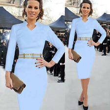 VINTAGE 50S 60S ROCKABILLY PENCIL PENCIL LONG SLEEVE PIN UP PARTY EVENING DRESS