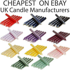 5x  5 x TAPERED DINNER CANDLES NON-DRIP CLEAN BURN CANDLE INDIVIDUALLY WRAPPED