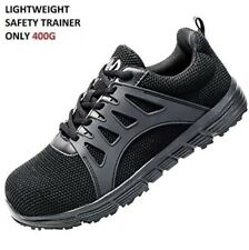 MENS GROUNDWORK LEATHER SAFETY STEEL TOE CAP HIKING WORK SHOE TRAINERS BOOTS SZ