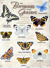 New 15x20cm BUTTERFLY GARDEN vintage enamel style tin metal advertising sign