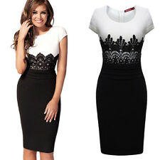 Women Celebrity Sexy Lace Party Business Dress Cocktail Evening Bodycon Dress