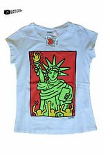 KEITH HARING - OFFICIAL STATUE OF LIBERTY TOP NEU/NEW T-SHIRT NEW YORK GRAFFITI