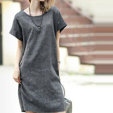 Short Sleeve Dress Women Casual Fashion Plus Size Slim Cocktail Party Prom Table