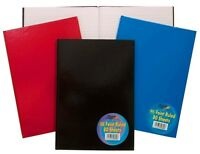 A4 A5 Plain Hardback NotePad Note Book Pad Ruled Feint Lined 160 Pages On Sale