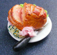 1:12 Scale Sliced Roast Leg Of Pork Joint Dolls House Miniature Meat Accessory