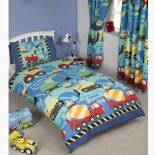 CONSTRUCTION TIME BUILDING SITE DIGGERS DUVET COVERS – SINGLE, TODDLER & DOUBLE