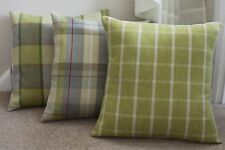 "Highlands Verde Musgo Tartan cuadros Cushion Covers Varias Tallas 16"" 17"" 18 ""de 20"""