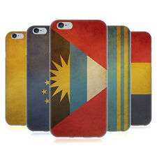 HEAD CASE DESIGNS VINTAGE FLAGS SET 5 SOFT GEL CASE FOR APPLE iPHONE PHONES