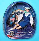 """Flight Attendant Doll Air Force One Obama 11"""" Blond w/ Backpack Suitcae & Extras"""