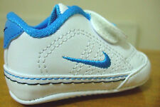 BABY BOYS NIKE FIRST COURT CRIB SOFT SOLE PRAM VELCRO STRAP TRAINERS UK 0 - 3.5