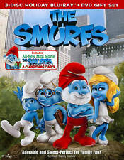 The Smurfs/The Smurfs: Christmas Carol (Blu-ray/DVD, 2011, 3-Disc Set NEW W/SLIP