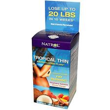 Natrol Tropical Thin Weight Loss Plan Raspberry Ketones - Lot of 3 - 180 Caps!