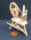 Natural Finish 1:12 Scale Wooden Spinning Wheel Dolls House Miniature Accessory